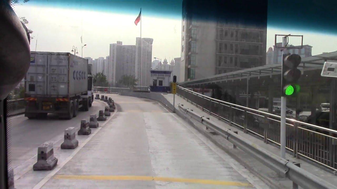 華通巴士@猛獅MAN MA8696 粵ZJB52港 文錦渡口岸至文錦渡管制站 - YouTube
