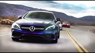 Mercedes c63 amg S против Audi R8 V10 и Ferrari California Кайфы   разные, если шины   одинаковые