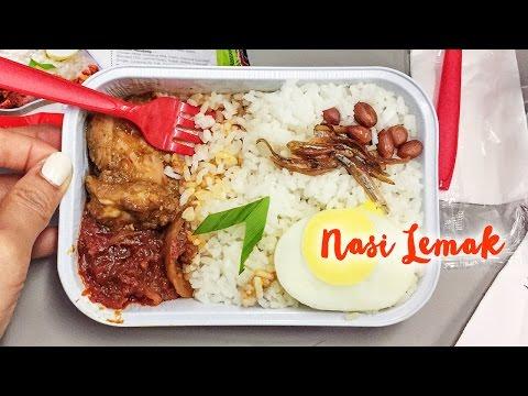 Nasi Lemak On AirAsia ► Malaysian Airplane Food From Bali To Singapore