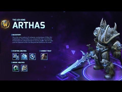 видео: heroes of the storm: Обзор героя arthas.