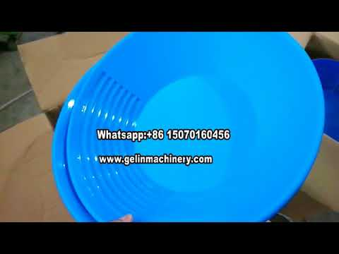 Gelin gold pan in stock for alluvial sand gold washing