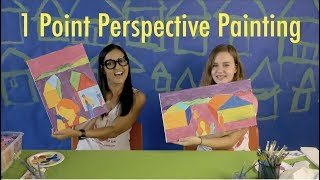 HOW TO PAINT 1 Point Perspective for Kids