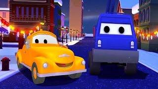 Эвакуатор Том и автоподъёмник в Автомобильный Город | Мультфильм для детей