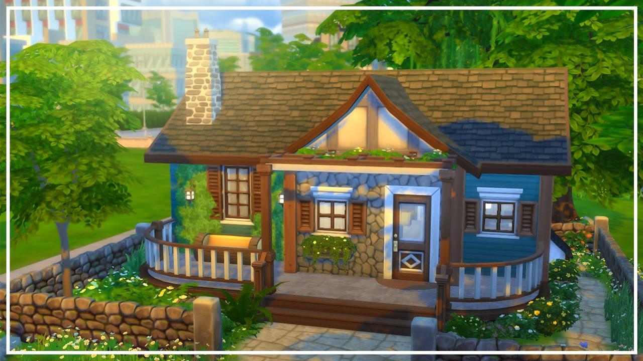 The Sims 4 Speed Build Rustic House Youtube