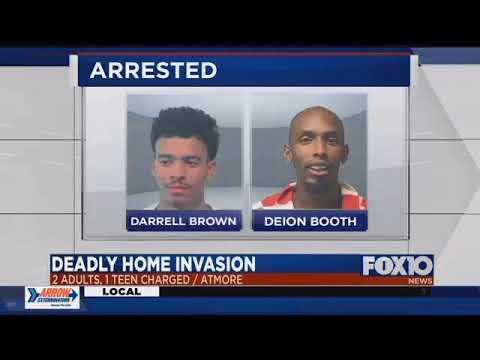 3 charged in Atmore home invasion, homicide