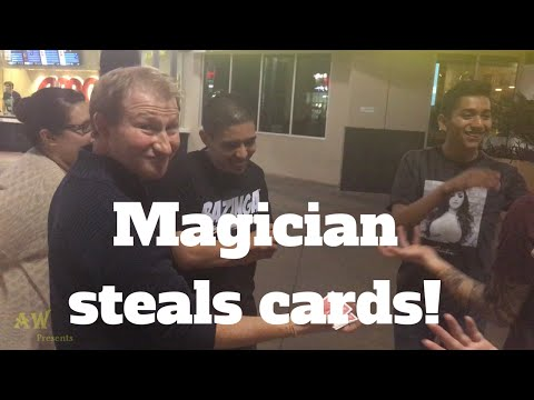 Magician steals cards!