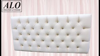 DIY - HOW TO UPHOLSTER A CRYSTAL TUFTED HEADBOARD - ALO Upholstery thumbnail