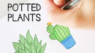 Potted Plant Doodles | Colour with Me