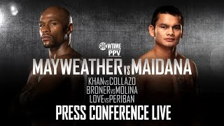 Press Conference Live - Mayweather vs. Maidana - SHOWTIME Boxing