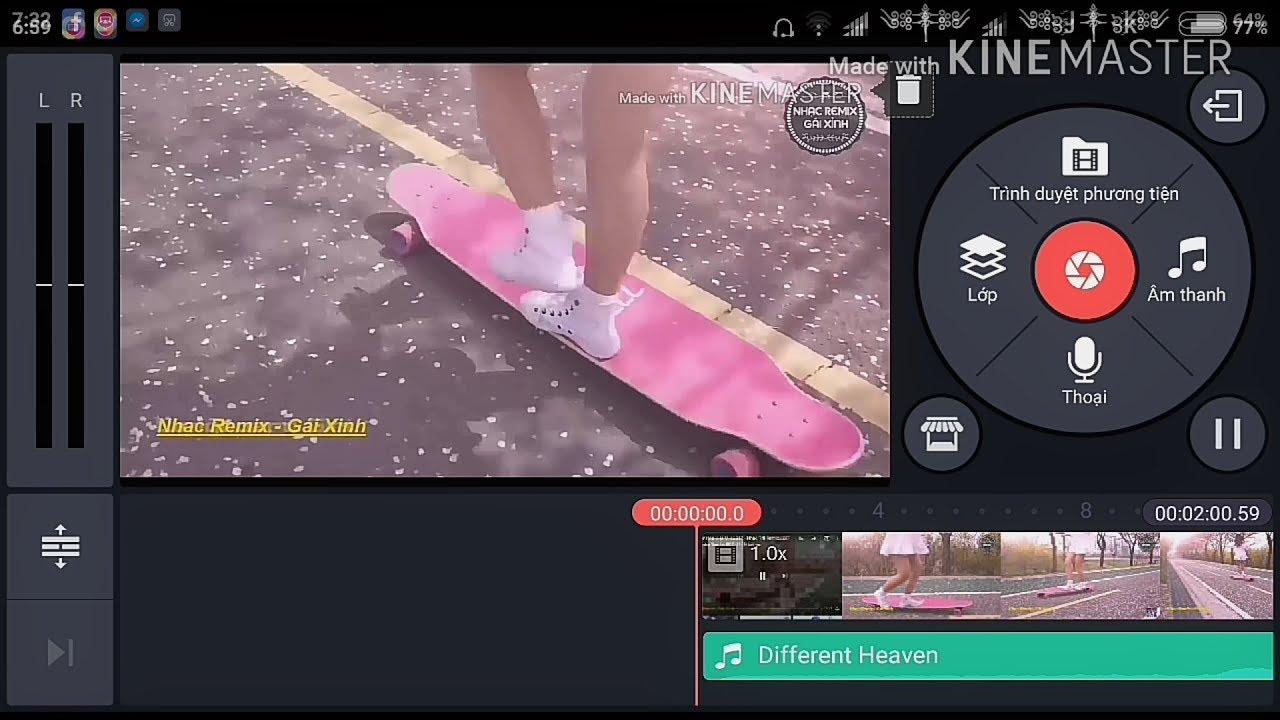 Hướng dẫn chèn nhạc vào video đơn giản qua app kine master