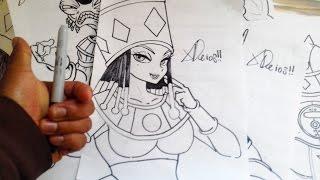 Dibuja a JEREZ LA DIOSA DESTRUCTORA DEL UNIVERSO 2 DE DRAGON BALL SUPER