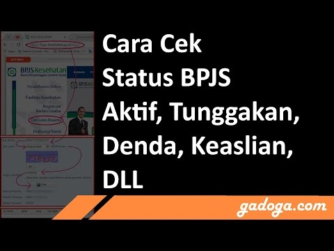 Cara Cek Status BPJS Online (Tunggakan, Tagihan, Keaslian dll)