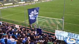 Brescia-Novara: post gol di Scaglia