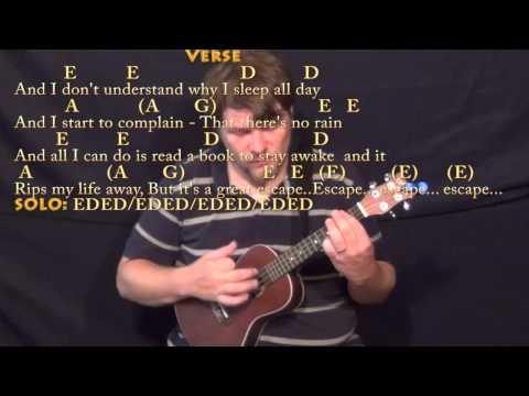 No Rain (Blind Melon) Ukulele Cover Lesson with Chords/Lyrics