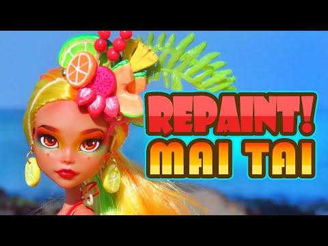 Repaint! Mai Tai 2019 Tropical Collaboration Custom OOAK Doll