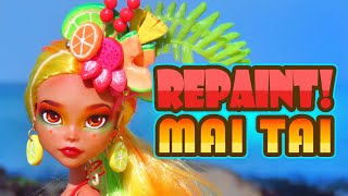 Repaint! Mai Tai 2019 Tropical Collaboration Custom OOAK Doll