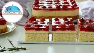 Lezzeti Şahane ÇİLEKLİ PASTA Tarifi|Alman Pastanesi Tarifidir|Pasta Tarifleri #Masmavi3Mutfakta
