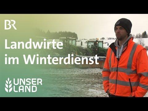 Winterdienst: Schneeräumen mit Traktoren | Unser Land | BR Fernsehen