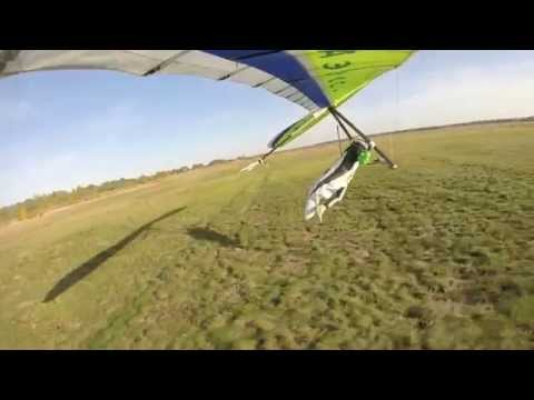 Speed Hang Gliding 124km/h fast and drogue chute landing