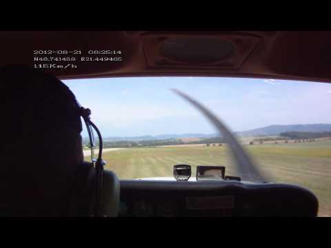 Cessna 172 Type Rating, Solo Flight, Bidovce (Slovakia)[1080p]