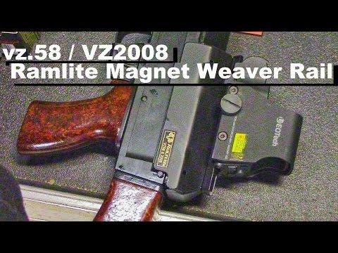 Vz 58 & VZ2008 Scope Mount Rail: Ramlite Magnetic Rail - YouTube