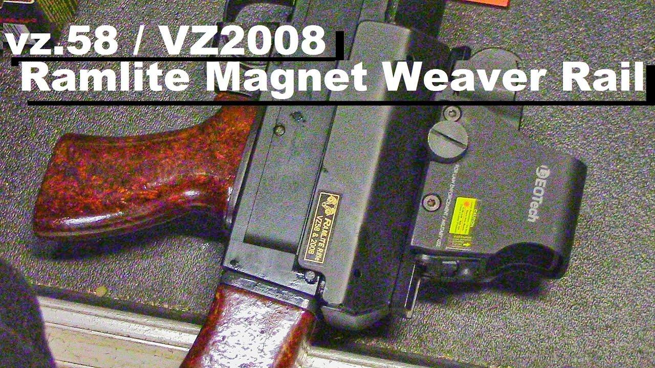 Vz 58 & VZ2008 Scope Mount Rail: Ramlite Magnetic Rail