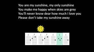 You Are My Sunshine Little Chicken Ukulele Play Along