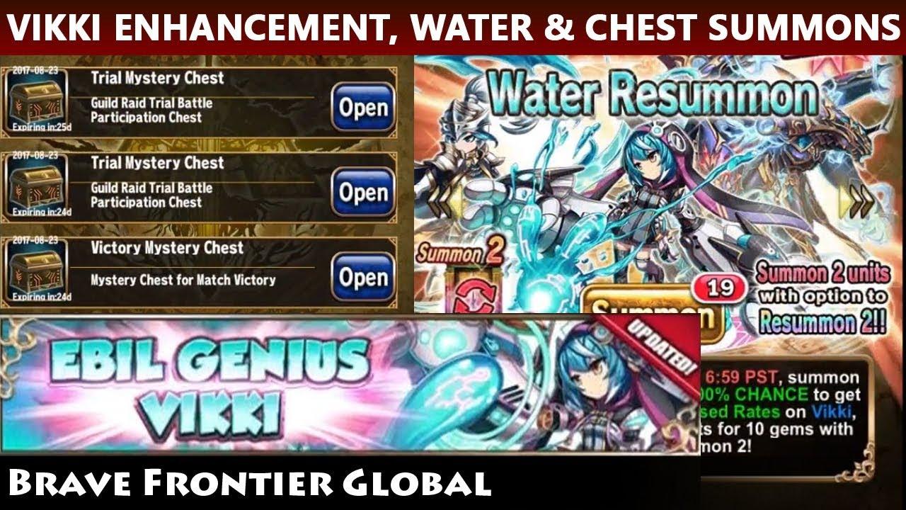 Vikki Enhancement SP Skill Build - Water Resummon & Guild Chest Summon  (Brave Frontier Global)
