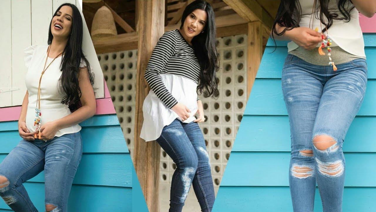 37bb62a7e Yubelkis Peralta Lanza Jeans Para Embarazadas - YouTube