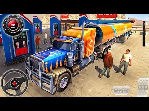 Oil Trailer Heavy Tanker Transporter - Offroad Truck Driver Simulator - Android GamePlay #2