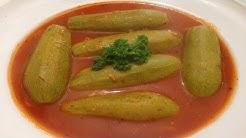 Lebanese stuffed zucchini kousa mahshi -  طريقة تحضير الكوسا المحشي باللحمة