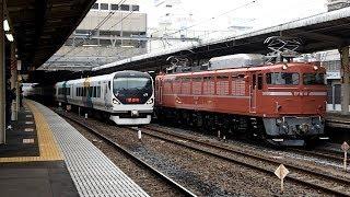 2019/03/06 【宇都宮配給】 EF81-81 大宮駅 | JR East: Ballast Hopper Wagons for Inspection by EF81-81