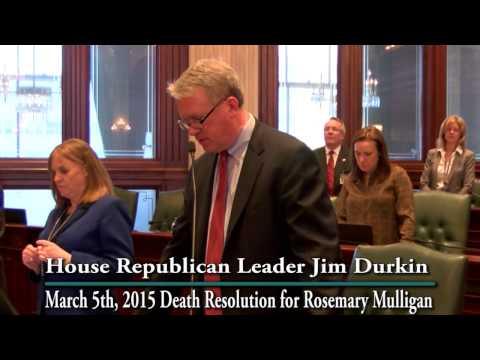 House Republican Leader Jim Durkin Remembers Former State Rep. Rosemary Mulligan