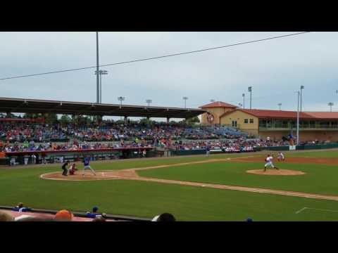 Tim Tebow Homerun - St. Lucie Mets vs. Florida Fire Frogs 7/23/2017