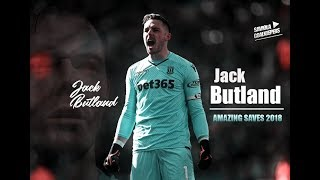 Jack Butland ► Amazing Saves & Crazy Reaction 2018 - Stoke CIty FC - HD