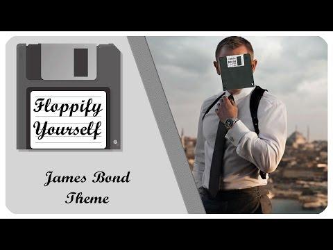 James Bond - Main Theme On Floppydrives!! 💾 Floppify Yourself In 4k