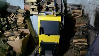 Твердотопливный котел Kronas Eko 16 кВт обзор .экономия по сравнению с газом в 3 раза.