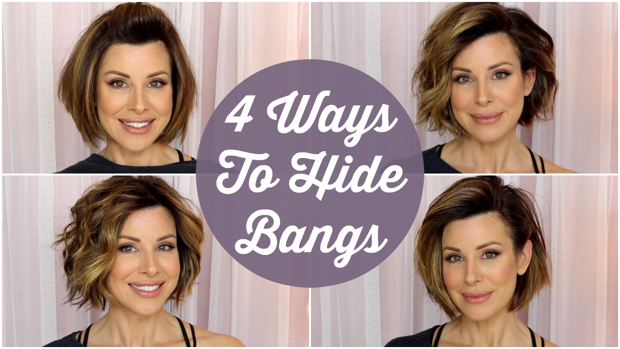 4 quick ways to hide your bangs!