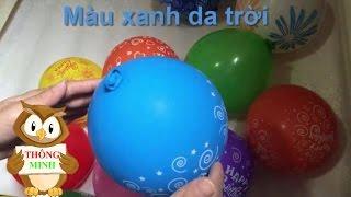 Bé tập nói tiếng Việt | em học đọc và nhận biết màu sắc quả bóng bay | Dạy trẻ thông minh sớm