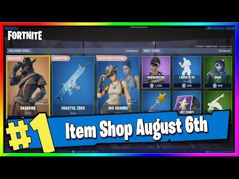 Fortnite Item Shop *NEW* FRACTAL ZERO WRAP And DEADFIRE IS BACK! August 6th, 2019 Fortnite Season X