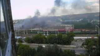 Тушение пожара с помощью вертолетов. Подольск,склады(, 2012-06-30T15:09:23.000Z)