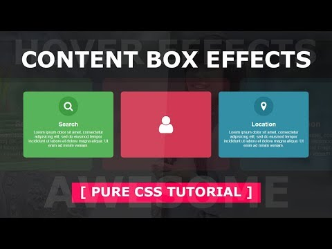 Content Box With Hover Effects - Html Css Creative Box Hover Effect Tutorial