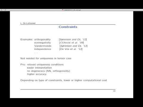 Tensor Tools for Multi-Sensor Processing: Conceptual and Computational Advances
