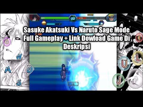 Gameplay Sasuke Akatsuki Vs Naruto Sage mode Full Gameplay - Mugen Android
