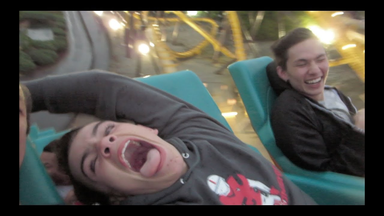 Roller coasters at six flags vlog 2 youtube kristyandbryce Images