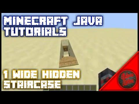 1 Wide Hidden Staircase (Tutorial) Minecraft:Java