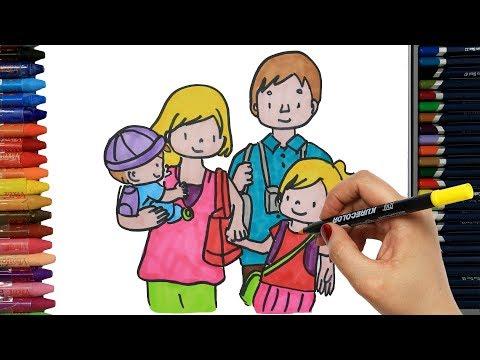 Как нарисовать семью из 6 человек