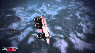 Mako gone crazy flying in the air -  Mass Effect