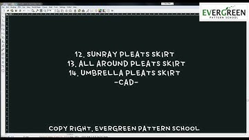 [SKIRT_StyleCad] S112C.(13&14) 플리츠 스커트/아코디온 PLEATS SKIRT (ACCORDION SKIRT)