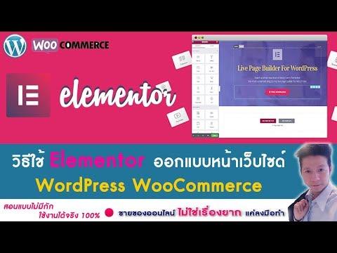 วิธีการใช้  Eliminated ออกแบบหน้าเว็บไซด์ wordpress WooCommerce,
